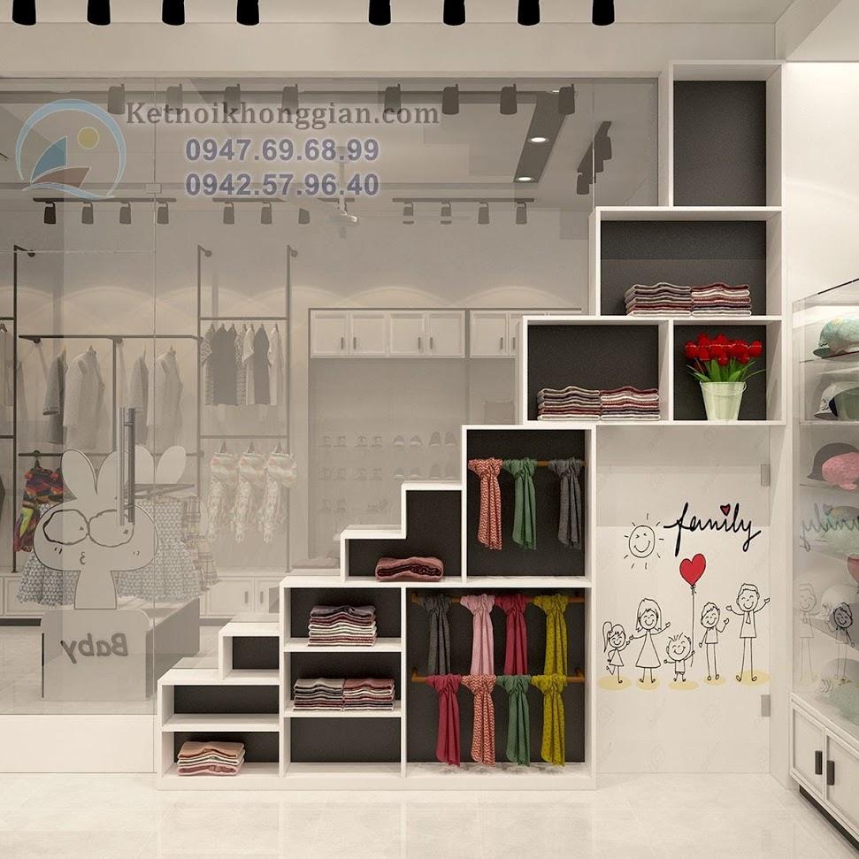 thiết kế shop thời trang trẻ em sáng tạo, khác biệt