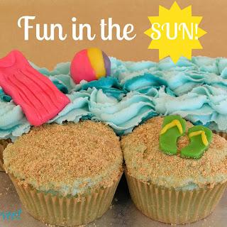 Blue Raspberry Beach Cupcakes