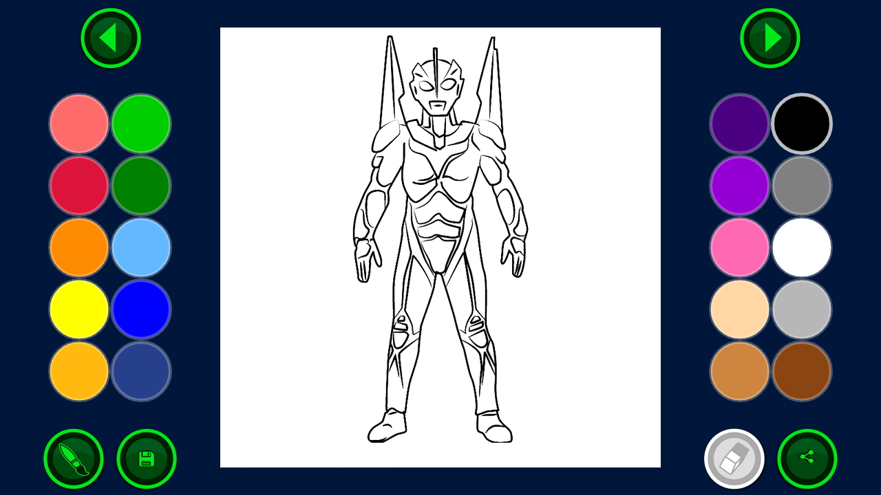 Games coloring ultraman - Coloring Page Of Ultra Screenshot