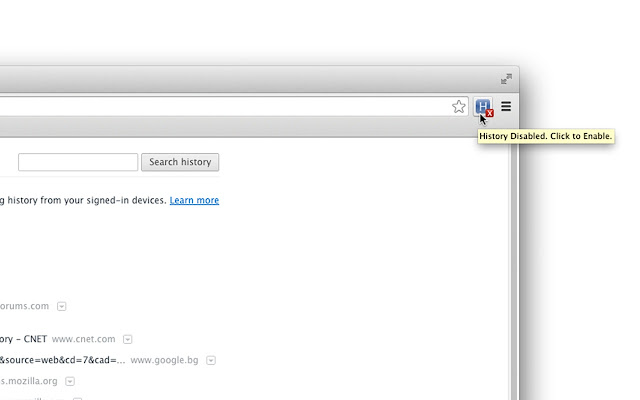 History On/Off - Chrome Web Store