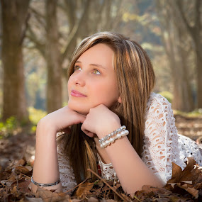 Kay 2 by Roger Fanner - People Portraits of Women ( sky, roger fanner, avenue, trees, leaves, plain, young lady, eyes )