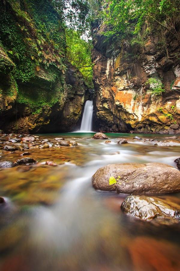 tembok barak waterfall by Agus Adi - Landscapes Waterscapes ( #bali #beautifull #landscape #waterfall #nature #tembokbarak #agusadi #cplfilter #stone #water #longexposure )