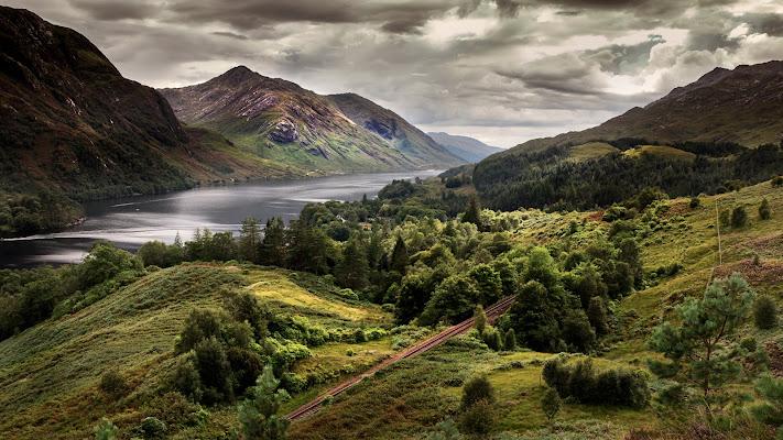 Panorama scozzese sopra Glenfinnan di wolfman1908