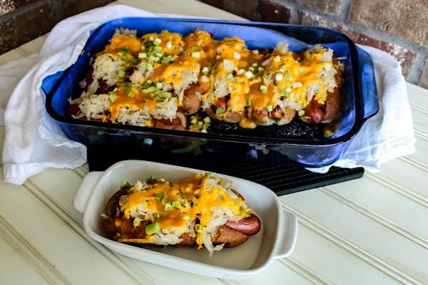 Hot Dogs With Sauerkraut And Cheese