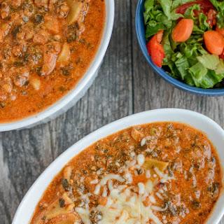 Instant Pot Vegetarian Lasagna Soup.