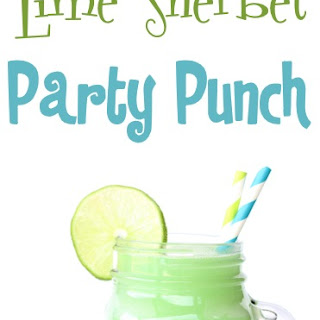 Lime Sherbet Party Punch Recipe!