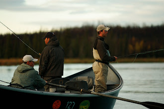 Photo: Fly fishing for rainbow trout on the Kenai out of a roomy 20 ft drift boat.