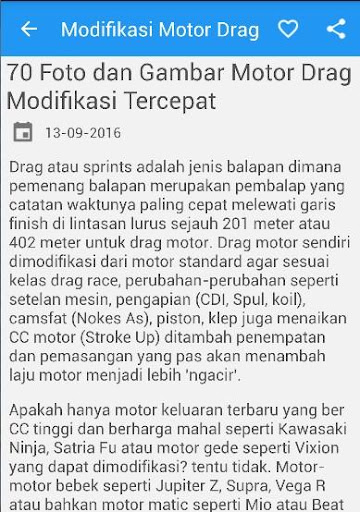 Modifikasi Motor Drag Race App Android Apk By Airindev