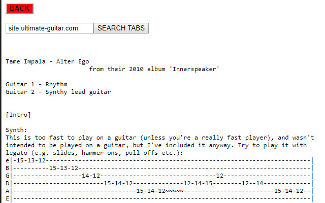 Ultimate-Guitar No BS