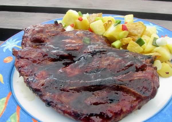 Grilled Hoisin-glazed Pork Chops With Pineapple Sa Recipe