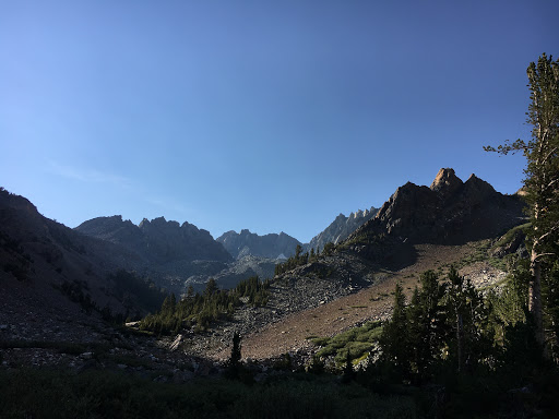 Looking back up to Horse Creek Pass