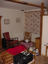 Photo: Here's our room, looking at the sitting area; it's done in a typical French country style.