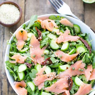 Arugula Smoked Salmon And Cucumber Salad