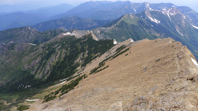 Photo: Part of the trail to the summit can be seen here.