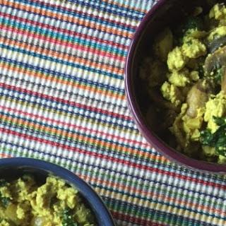 Spinach and Mushroom Tofu Scramble.