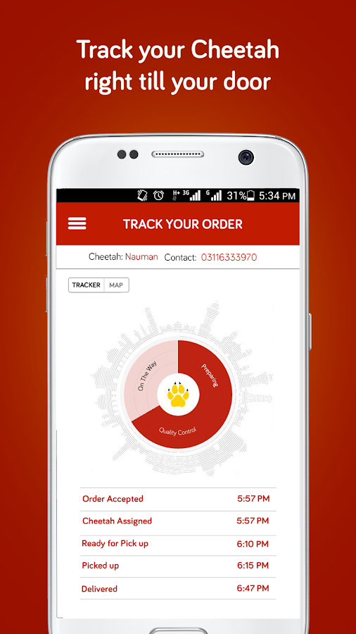 Cheetay - Lahore Food Delivery- screenshot