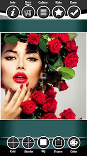 Rose Photo Collage Editor - náhled