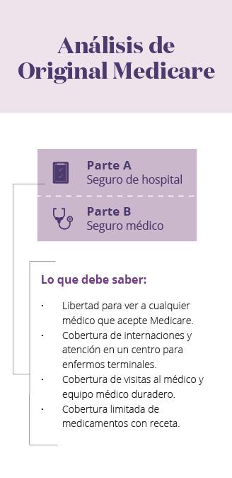 Infografía móvil de Original Medicare
