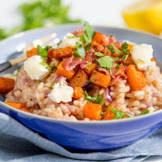 Earn Some Serious Points With This Easy Brie, Bacon and Squash Risotto