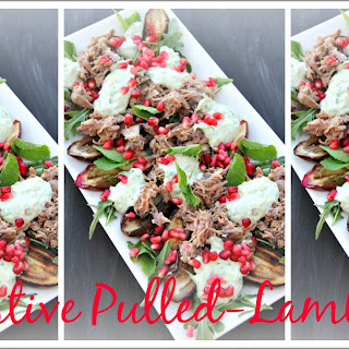 Festive Pulled Lamb Salad