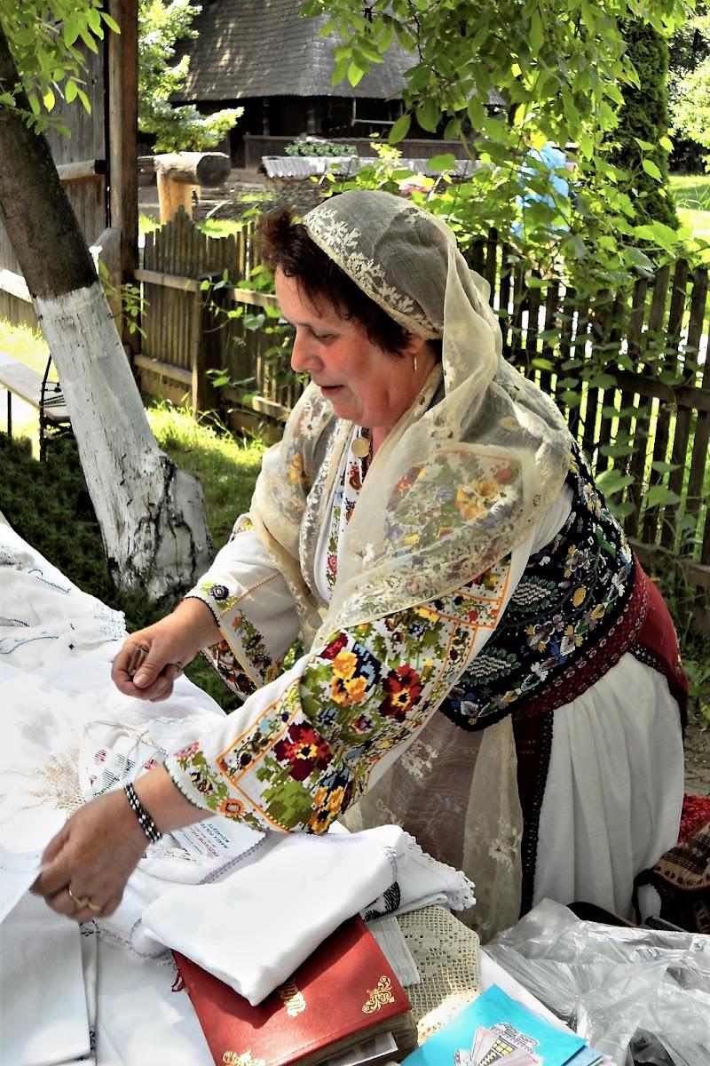 Donna in abito tradizionale di dino pas