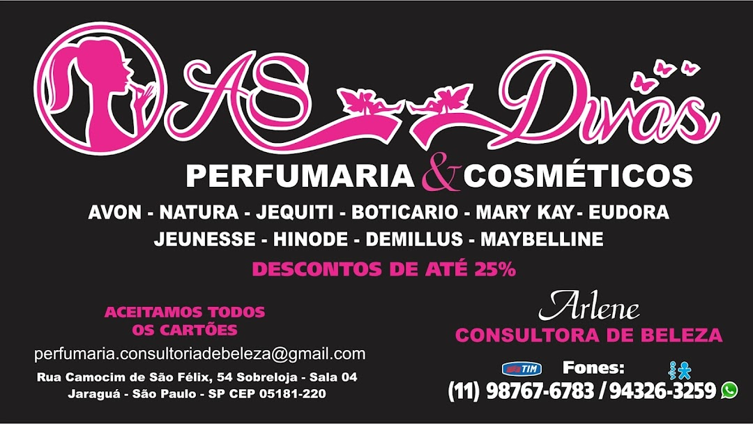 5b306d1a5 As Divas Perfumaria   Cosméticos (pronta entrega de diversas marcas ...
