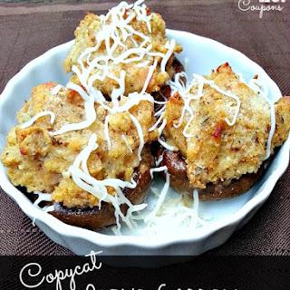 Copycat Olive Garden Stuffed Mushrooms