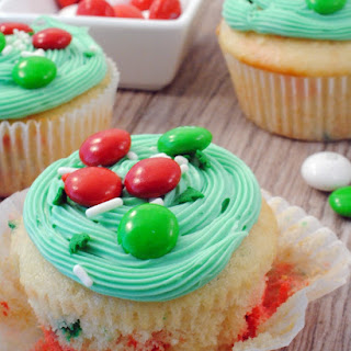 Festive Funfetti Cupcakes