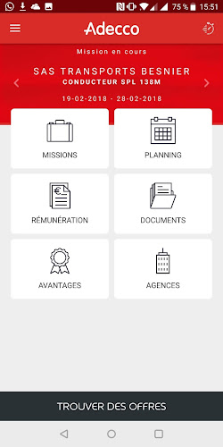 Adecco & Moi - Espace Intérimaire Android App Screenshot