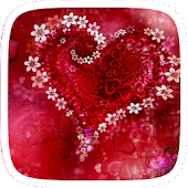 Red rose heart theme
