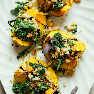 Stuffed Squash With Broccoli Rabe And Quinoa