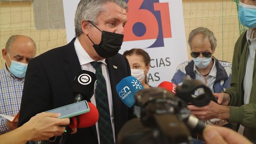 Juan de la Cruz Belmonte en su comparecencia ante los medios este jueves.