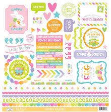 Doodlebug Cardstock Stickers 12X12 - Hoppy Easter This & That