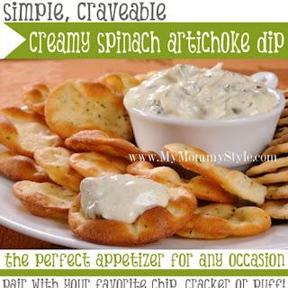 Simple, craveable Creamy Spinach Artichoke Dip – appetizer.