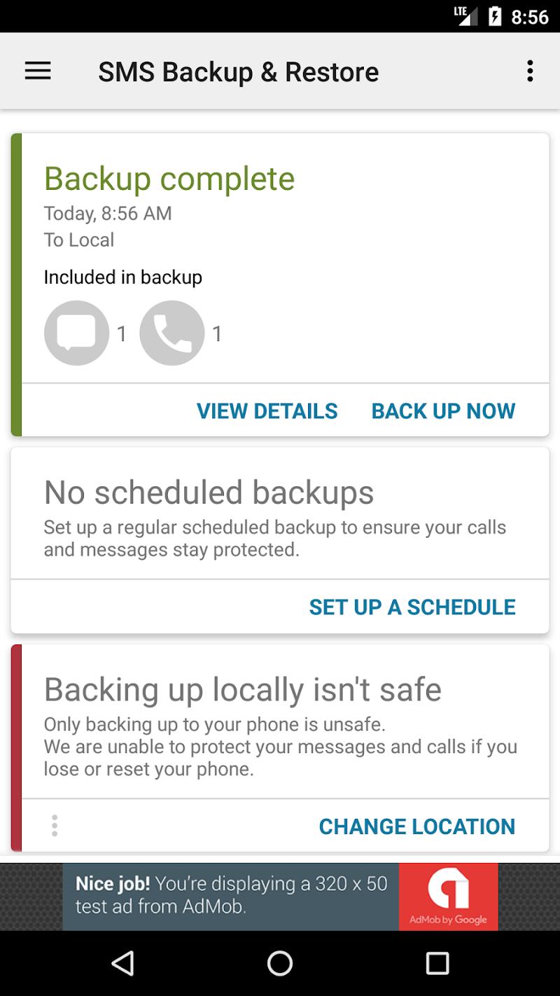 SMS Backup & Restore Screenshot 6
