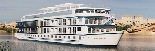 The 72-passenger AmaDahlia offers 7-night round-trip cruises along the Nile River.