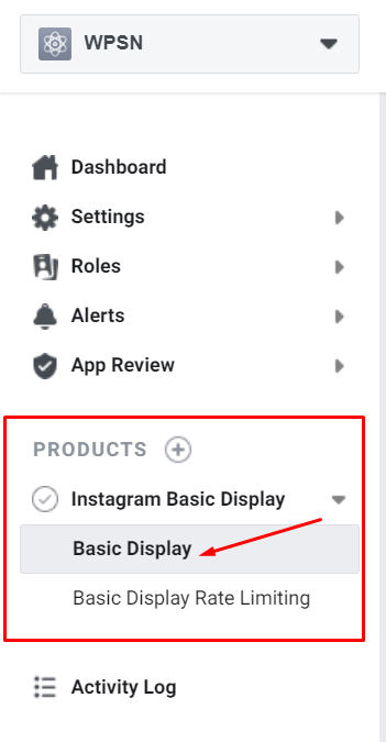 basic display for Instagram access token