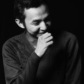 hahaha by Yosep Atmaja - Black & White Portraits & People (  )