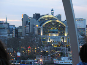 Photo: Illuminated Charing Cross station seen from the London Eye