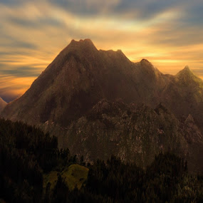 The sunset by Orkidea W. - Landscapes Mountains & Hills ( mountain, nature, orkidea, sunset, fine art, valencia, landscape,  )