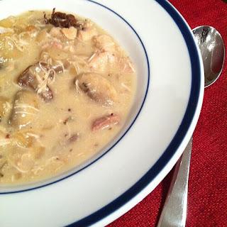 Creamy Crockpot Chicken and Mushroom Stew