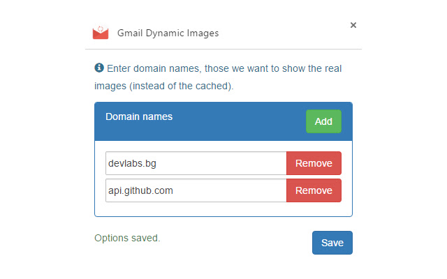Gmail Dynamic Images