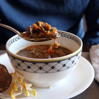 Kendal Hills Mushroom & Vegetable Vegan Soup.