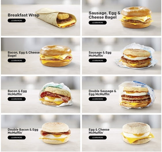 Mcd Breakfast Menu