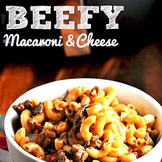 Beefy Mac and Cheese {Slow Cooker}.