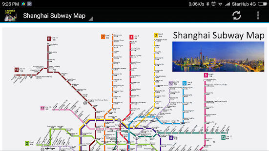 Shanghai Subway Metro Map 2018 - náhled