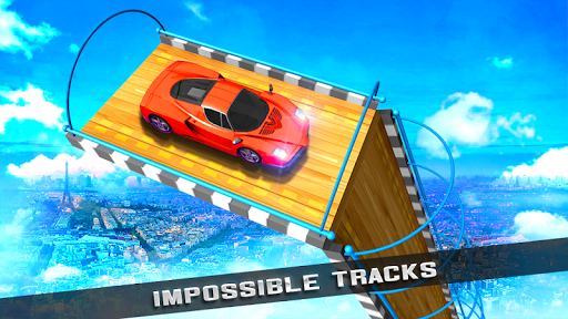 Conducción de automóviles: capturas de pantalla Impossible Racing Stunts & Tracks 1