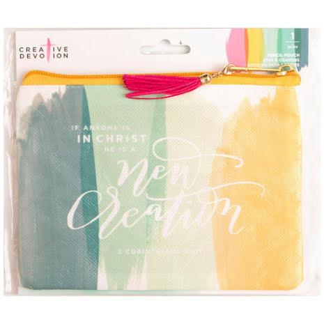 Creative Devotion Oil Cloth Zippered Pencil Pouch 8X4 - New Creation UTGÅENDE
