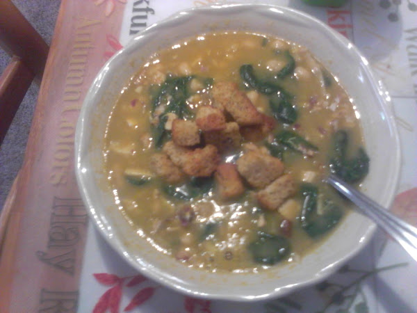 White Bean, Chicken, And Spinach Soup Recipe