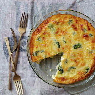 Crustless Broccoli and Cheddar Quiche.